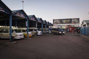 Soweto Gold taxi rank advertising