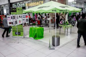 Mall Property expo at busy Eastpoint Shopping Centre in johannesburg