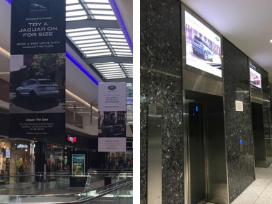 Land Rover and Jaguar Advertising at Mall of the South