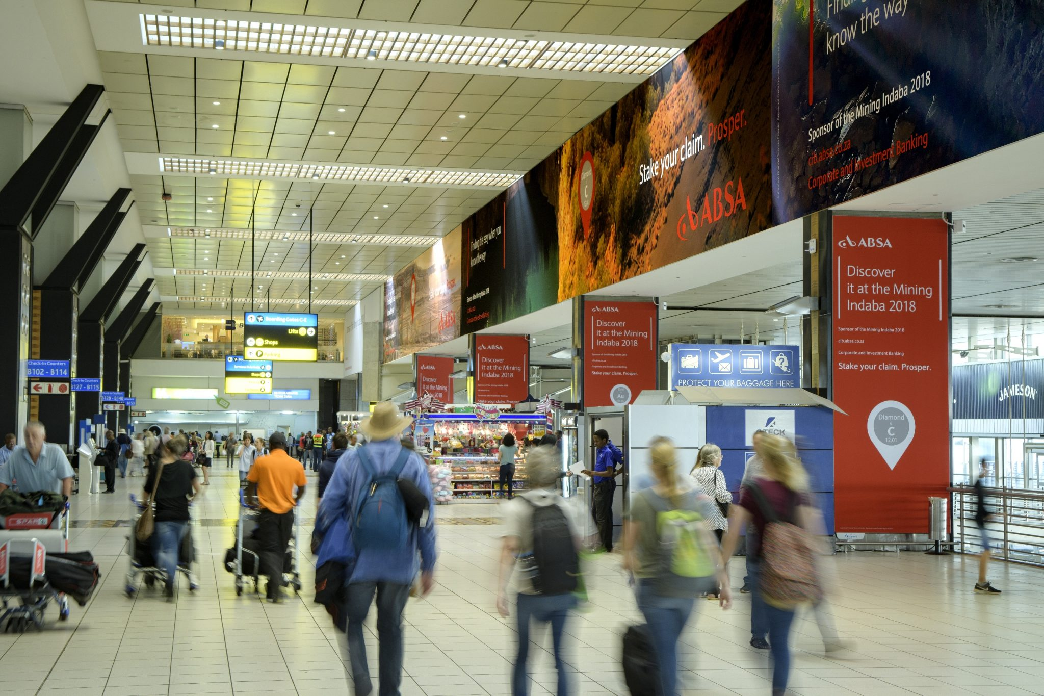 Airport Ads ABSA campaign OR Tambo